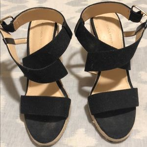 Banana Republic Woven Wedge in Black